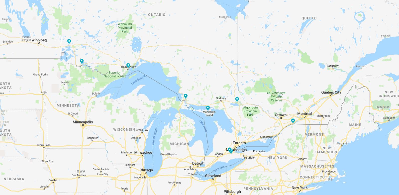 Indigenous Institutes Map