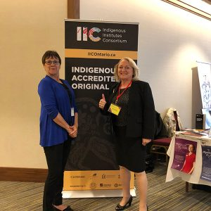 Left to right: Lorrie Deschamps, Director of Student Success, Oshki Wenjack; and Anne Scotton, Regional Director General Ontario, Indigenous Services Canada